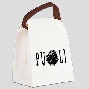 Dread Text Puli Dog Canvas Lunch Bag