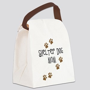 shelter dog mom Canvas Lunch Bag