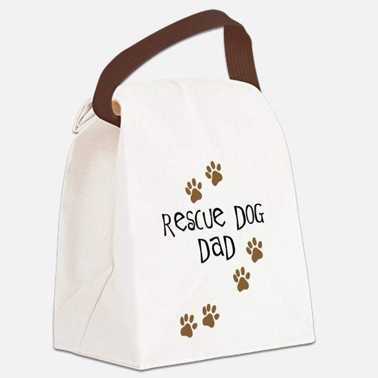 rescue dog dad.png Canvas Lunch Bag