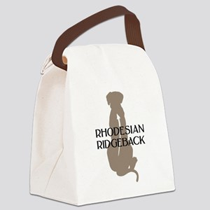 rhodesian ridgeback grey txt Canvas Lunch Bag