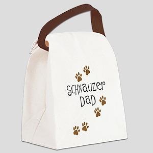 Paw Prints Schnauzer Dad Canvas Lunch Bag
