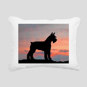 schnauzer sunset wd4 Rectangular Canvas Pillow