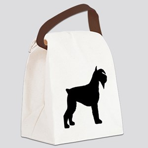schnauzer dog basic black Canvas Lunch Bag