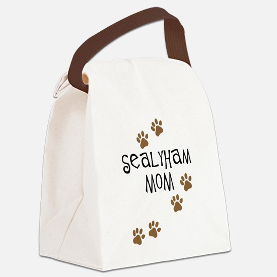 sealyham mom wh.png Canvas Lunch Bag