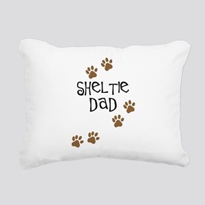 sheltie dad Rectangular Canvas Pillow