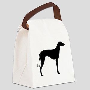 sloughi black Canvas Lunch Bag