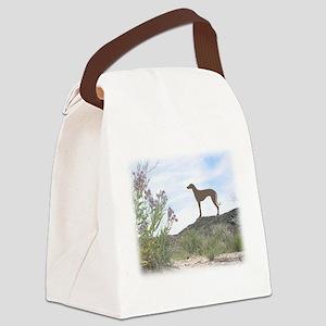 desert flowers sloughi Canvas Lunch Bag