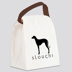 sloughi black text tr Canvas Lunch Bag