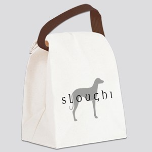 sloughi grey text Canvas Lunch Bag