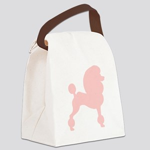 fancy poodle retro pink Canvas Lunch Bag