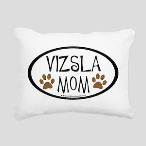 Vizsla Mom Oval Rectangular Canvas Pillow