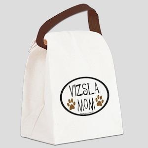Vizsla Mom Oval Canvas Lunch Bag
