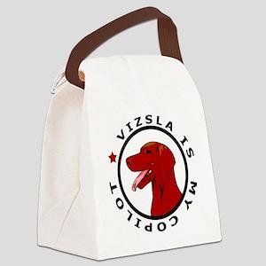 vizsla is my copilot dog Canvas Lunch Bag