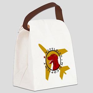 vizsla dog is my copilot Canvas Lunch Bag