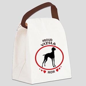proud vizsla mom 2 Canvas Lunch Bag