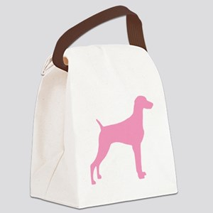 weimaraner pink Canvas Lunch Bag