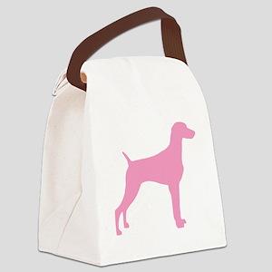 weimaraner pink Canvas Lunch Bag