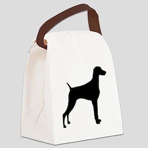 weimaraner black Canvas Lunch Bag