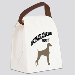 weimaraners rule Canvas Lunch Bag