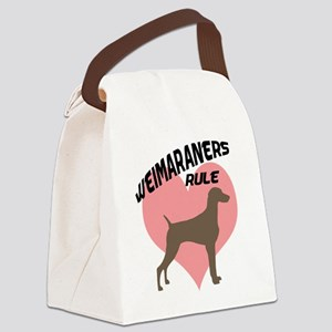 weimaraners rule heart Canvas Lunch Bag