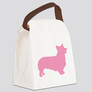 pembroke welsh corgi pink Canvas Lunch Bag