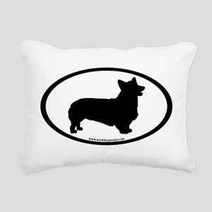 Welsh Corgi Oval Rectangular Canvas Pillow
