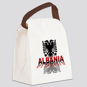 3D Albania Canvas Lunch Bag