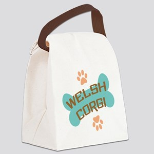 welsh corgi bone 2 Canvas Lunch Bag