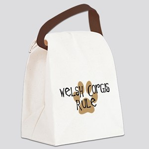 welsh corgis rule Canvas Lunch Bag