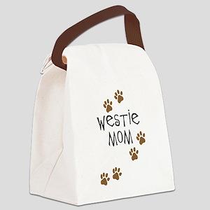 westie mom Canvas Lunch Bag