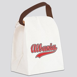 Retro Albania Canvas Lunch Bag