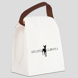 xoloitzcuintli wide black Canvas Lunch Bag
