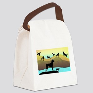 many dogs wide Canvas Lunch Bag