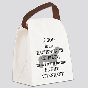 dachshund flight attendant Canvas Lunch Bag