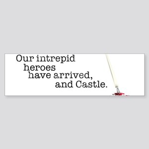 Our intrepid heroes Sticker (Bumper)