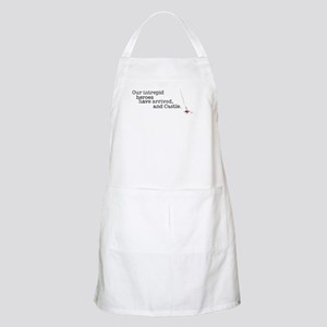 Our intrepid heroes Apron