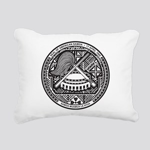 American Samoa Coat Of Arms Rectangular Canvas Pil