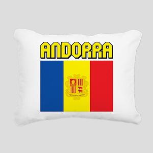 Andorra Flag Rectangular Canvas Pillow