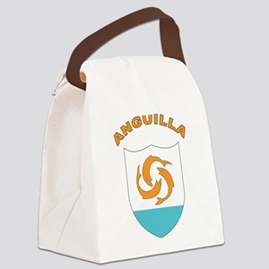 Stylized Anguilla Canvas Lunch Bag