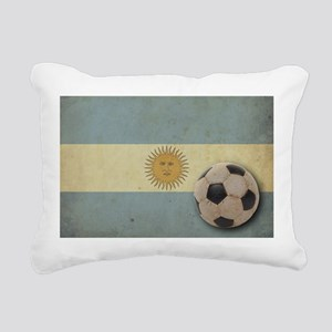 Vintage Argentina Flag Rectangular Canvas Pillow