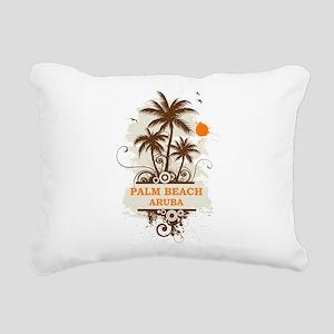 Palm Beach Aruba Rectangular Canvas Pillow