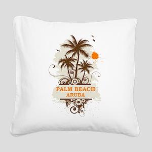 Palm Beach Aruba Square Canvas Pillow
