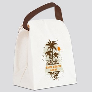 Palm Beach Aruba Canvas Lunch Bag