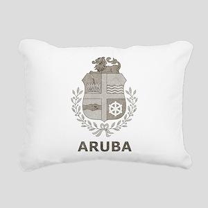 Vintage Aruba Rectangular Canvas Pillow