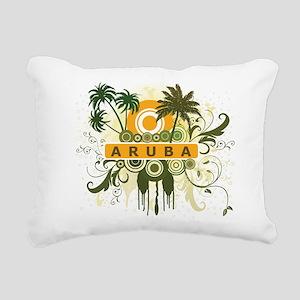 Palm Tree Aruba Rectangular Canvas Pillow