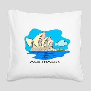 Australia Sydney Opera House Square Canvas Pillow