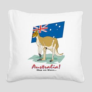 Australia Kangaroo Square Canvas Pillow