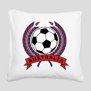 Australia Soccer Square Canvas Pillow