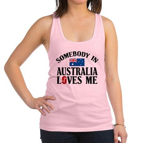 Somebody In Australia Racerback Tank Top