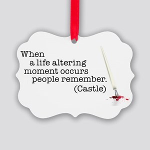 Life altering moment Picture Ornament